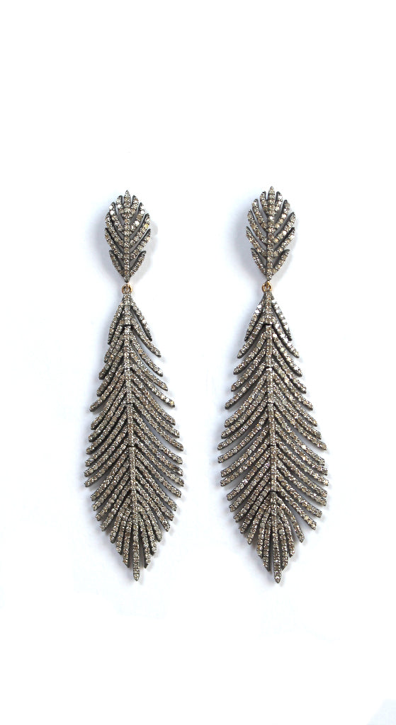 Flexible Feather Post Earrings