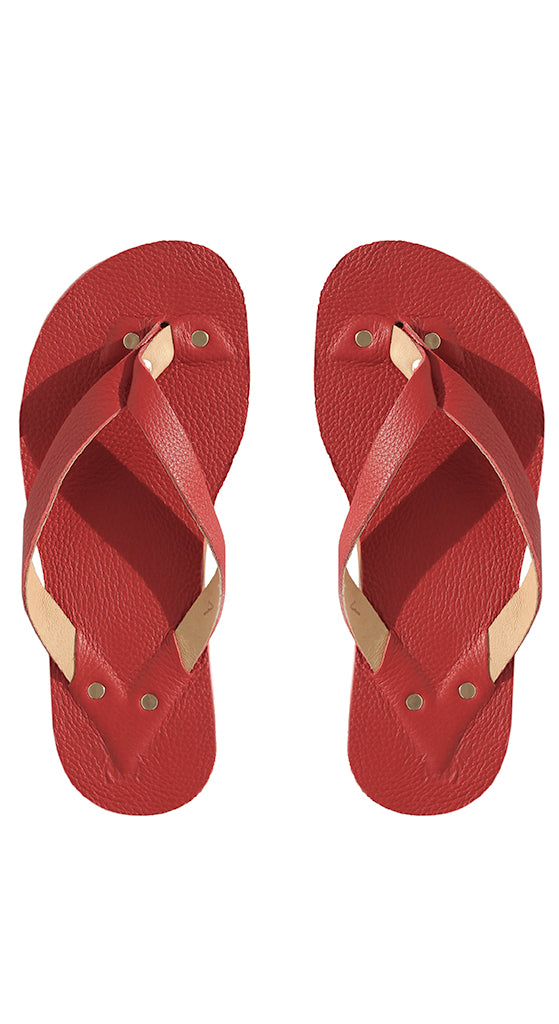 Big Apple Red Flip Flops