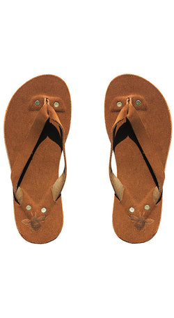 Saddle Suede Flip Flops