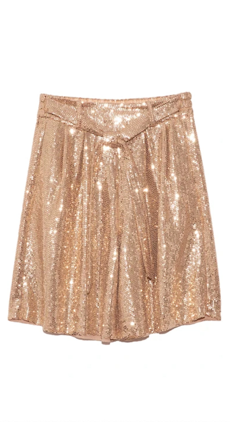 Sequins Bermuda Shorts