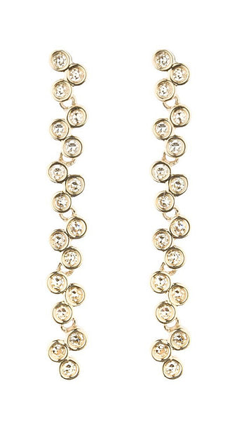 "Yellow Gold Semilla 1 3/4"" Earrings"