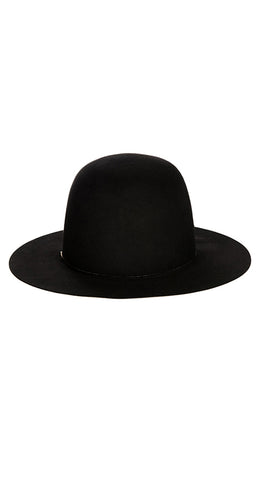 Black Courchevel Hat
