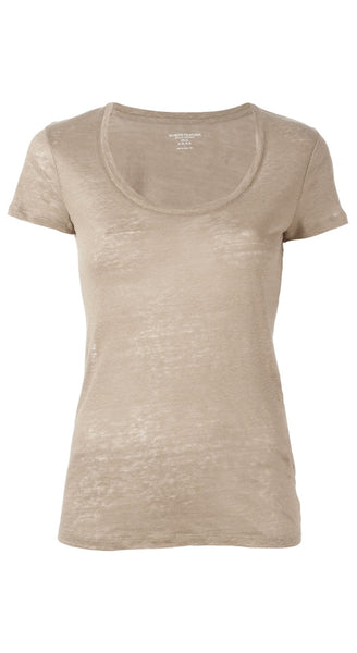Linen Scoop Top
