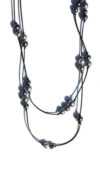 32 Pearls Long Neck Wrap Necklace