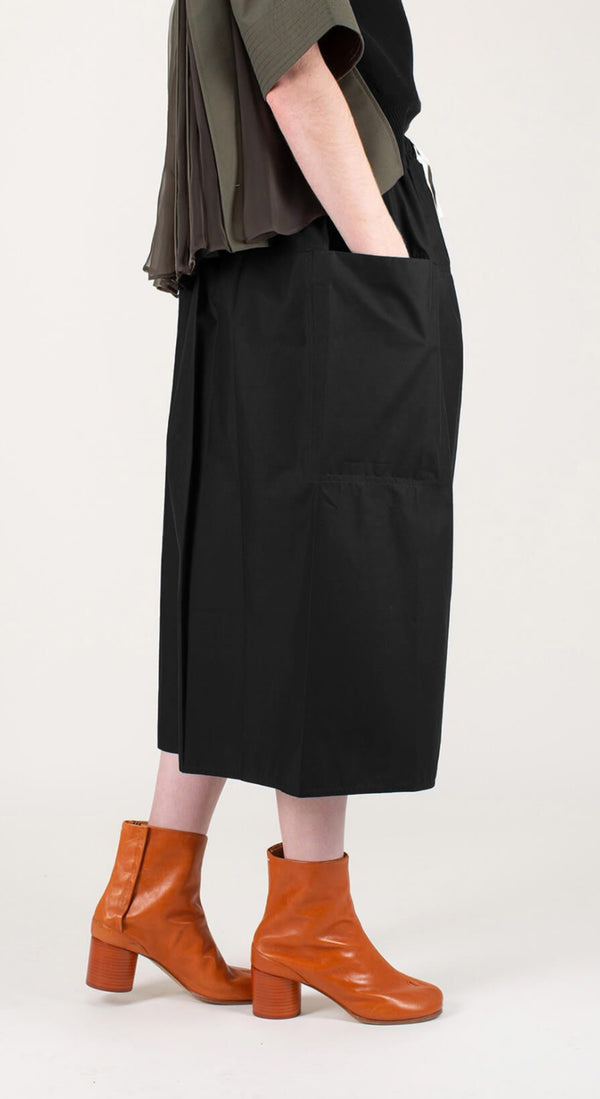 Midi Skirt Front Pockets
