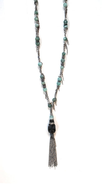 *Aquaprase Santa Fe Staurolite Bead Necklace