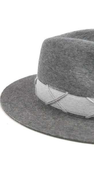Grey Wool Felt Hat