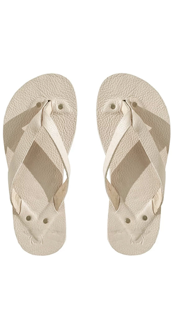 New Bone Leather Flip Flops