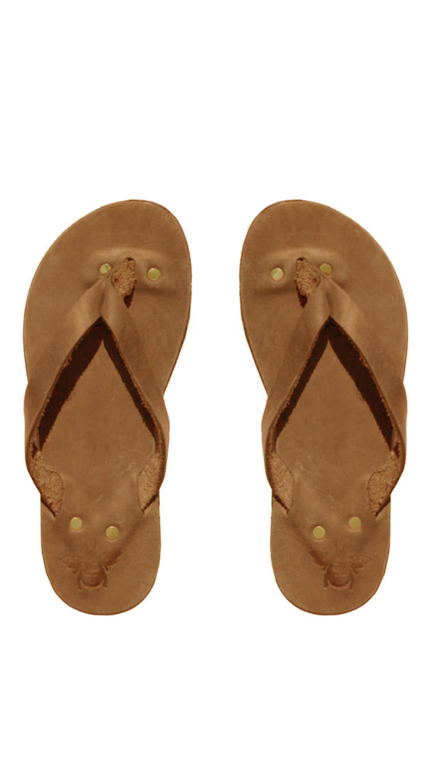 Original Brown Leather Flip Flops