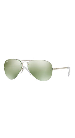 Rimless Aviator Silver 59mm