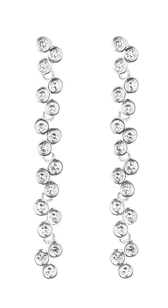 "White Gold Semilla 1 1/4"" Earrings"