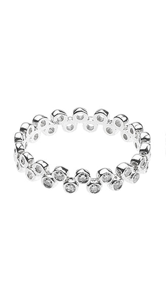 White Gold Semilla Eternity White Diamonds Band