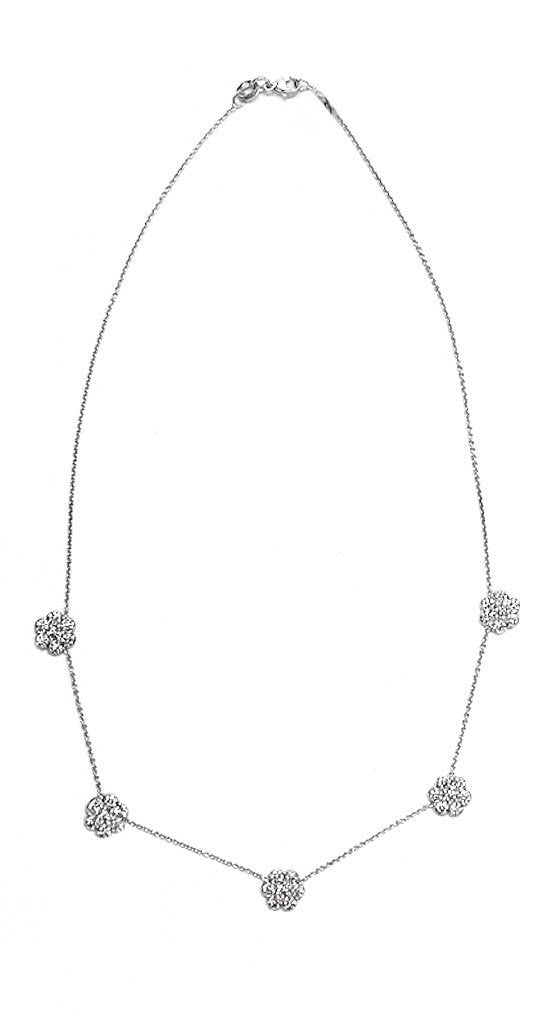 14k White Gold 2.45ct Diamond Necklace