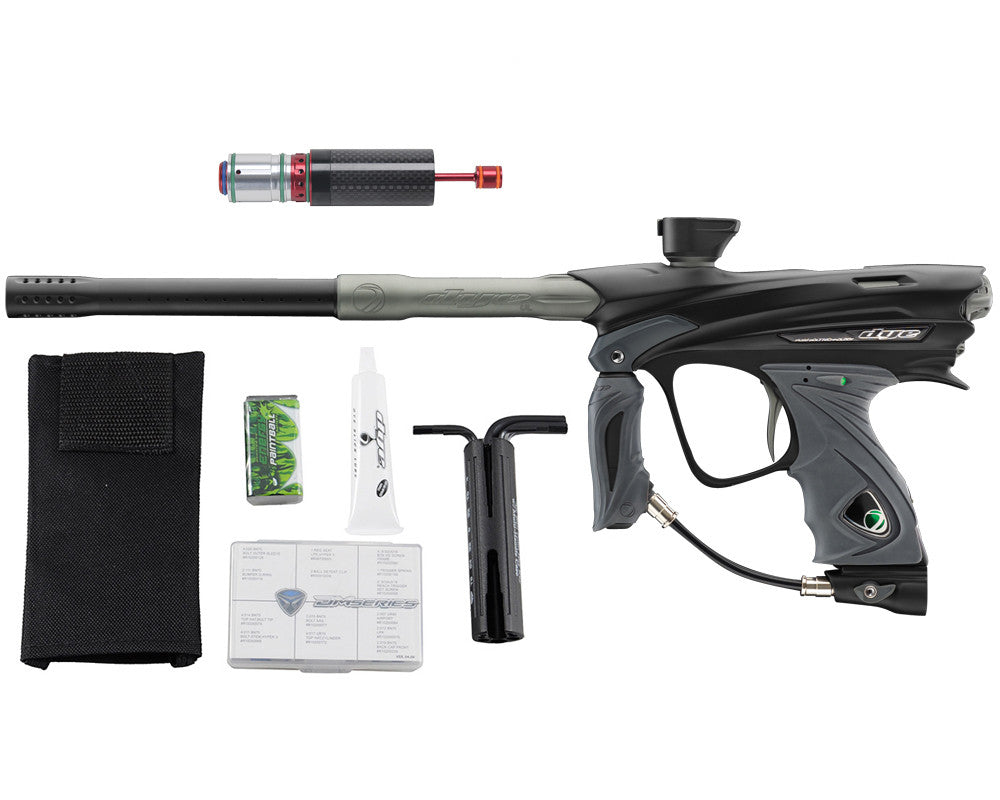 Dye DM13 Paintball Gun w/ CF Billy Wing Bolt - Black/Graphite
