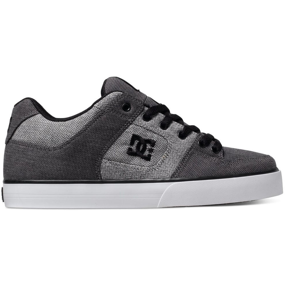 DC Pure TX SE - Grey/Grey/White XSSW - Men's Skateboard Shoes