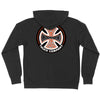 Independent Suspension Sketch Hooded Zip L/S - Black - Men's Sweatshirt