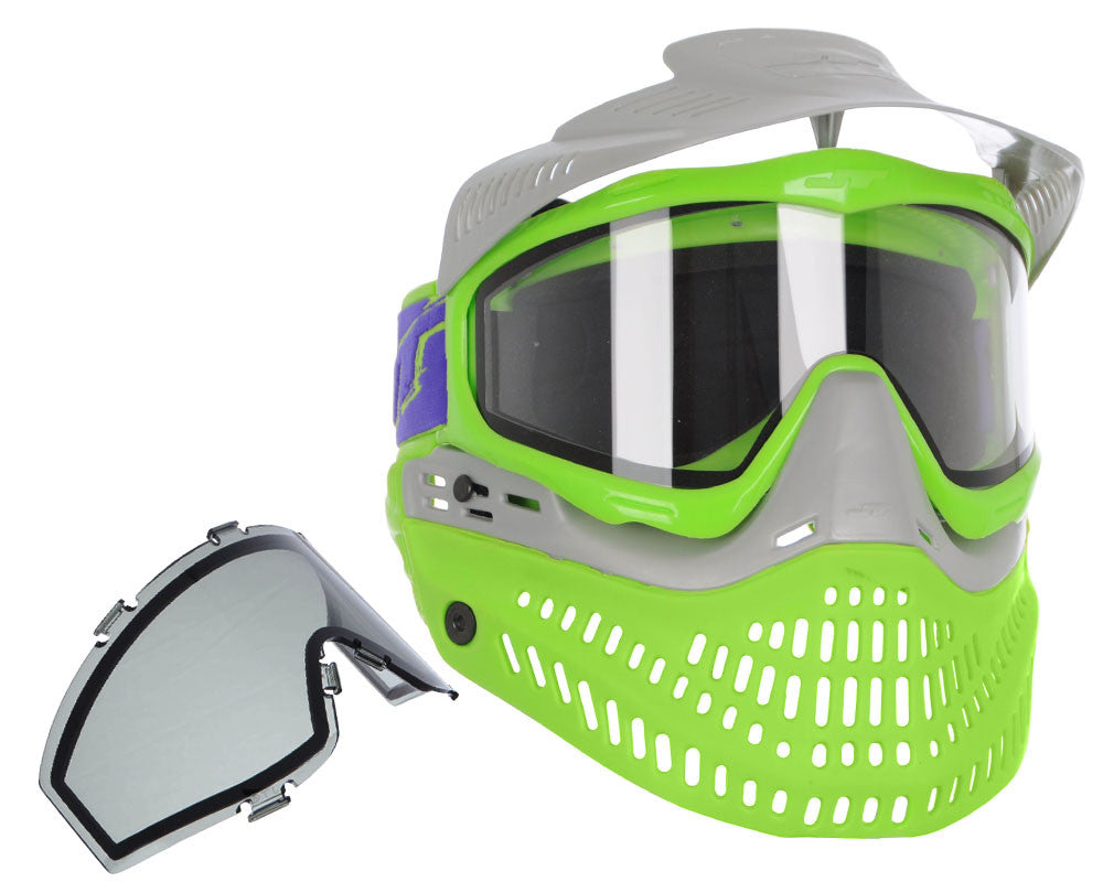 Jt ProFlex Thermal Paintball Mask - 2.0 Limited Edition Silver/Green