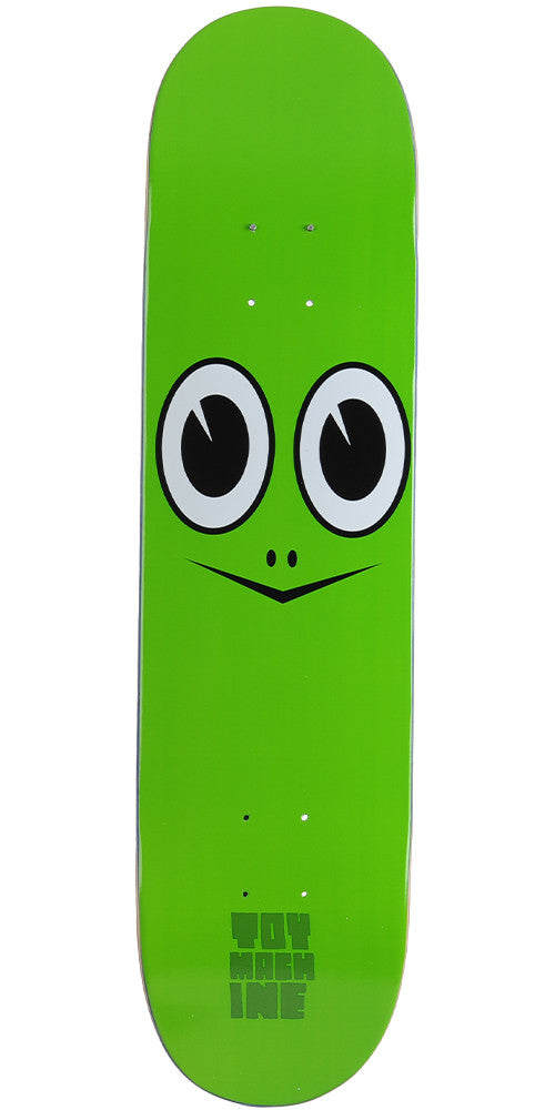 Toy Machine Turtle Face - Green - 7.75 - Skateboard Deck