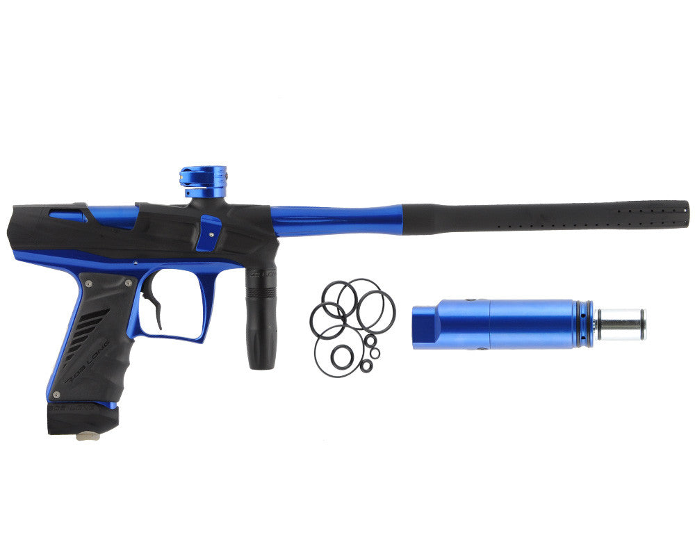 Bob Long Victory V-COM Paintball Gun - Dust Black/Blue