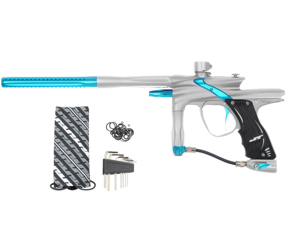 JT Impulse Paintball Gun - Dust Silver/Teal