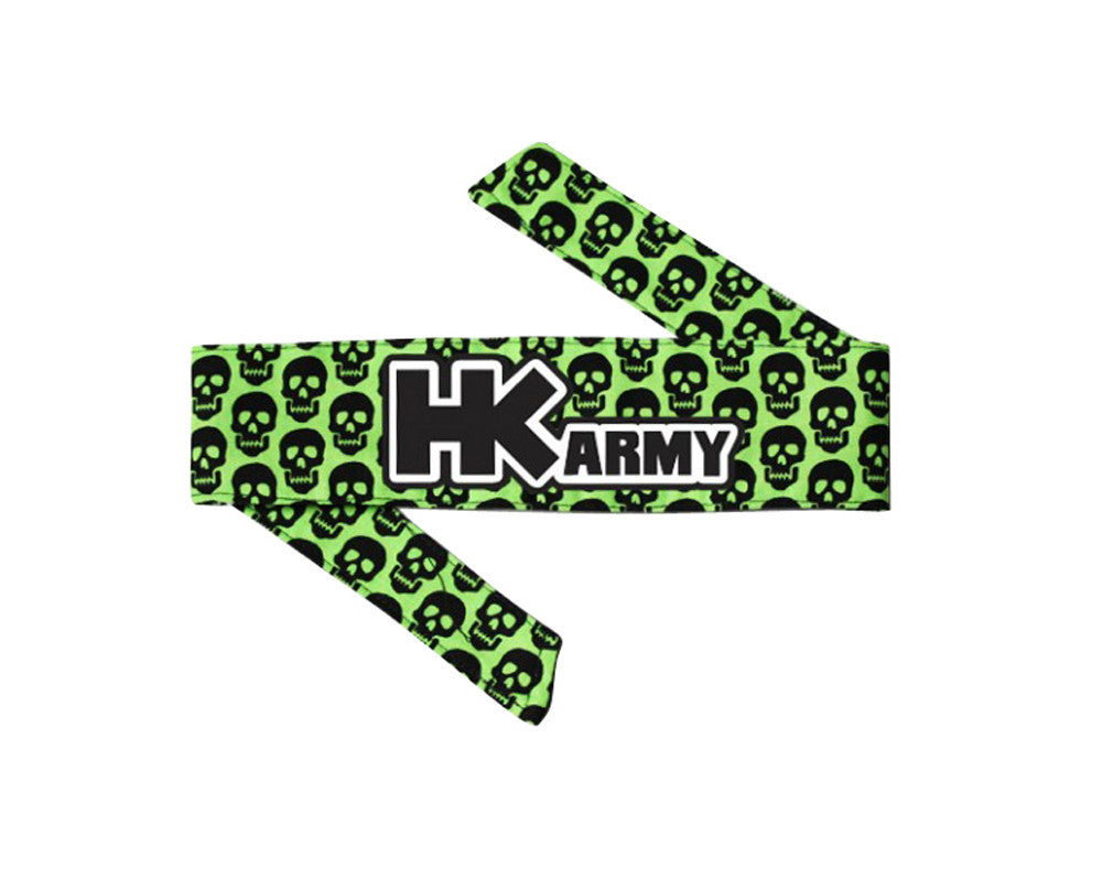 HK Army Headband - HK Mini Skull Green