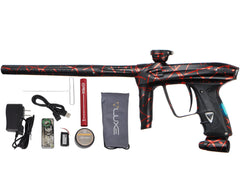 DLX Luxe 2.0 OLED Paintball Gun - 3D Splash Dust Black/Red