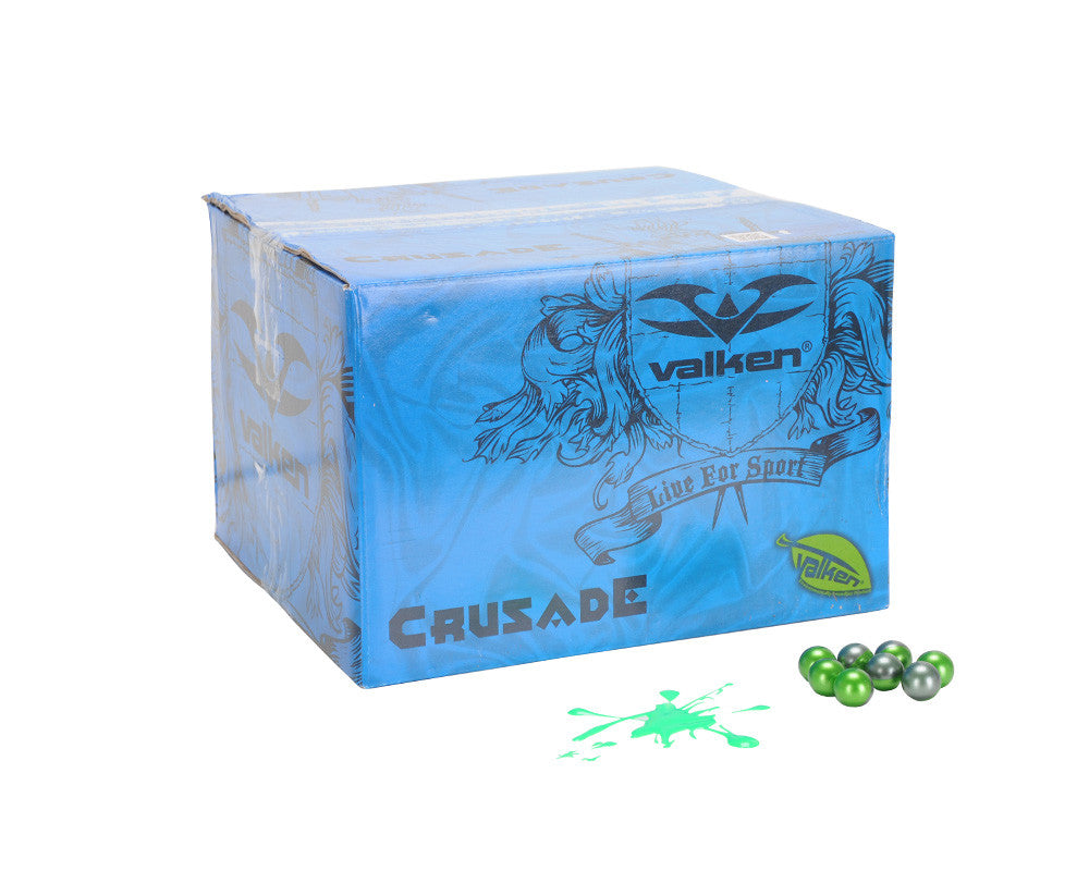 Valken Crusade Paintball Case 500 Rounds - Green Fill