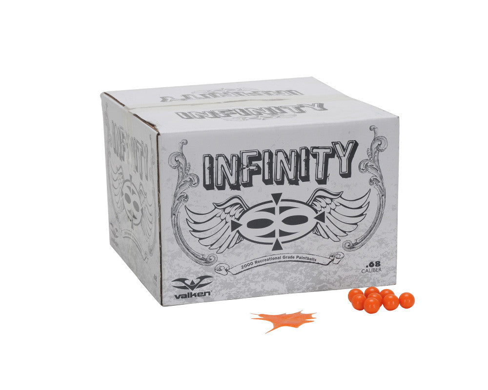 Valken Infinity Paintball Case 2000 Rounds - Orange Fill