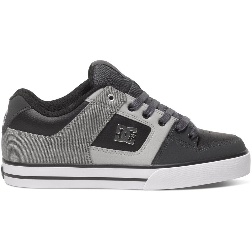 DC Pure SE - Grey/Black/Grey GBG - Men's Skateboard Shoes