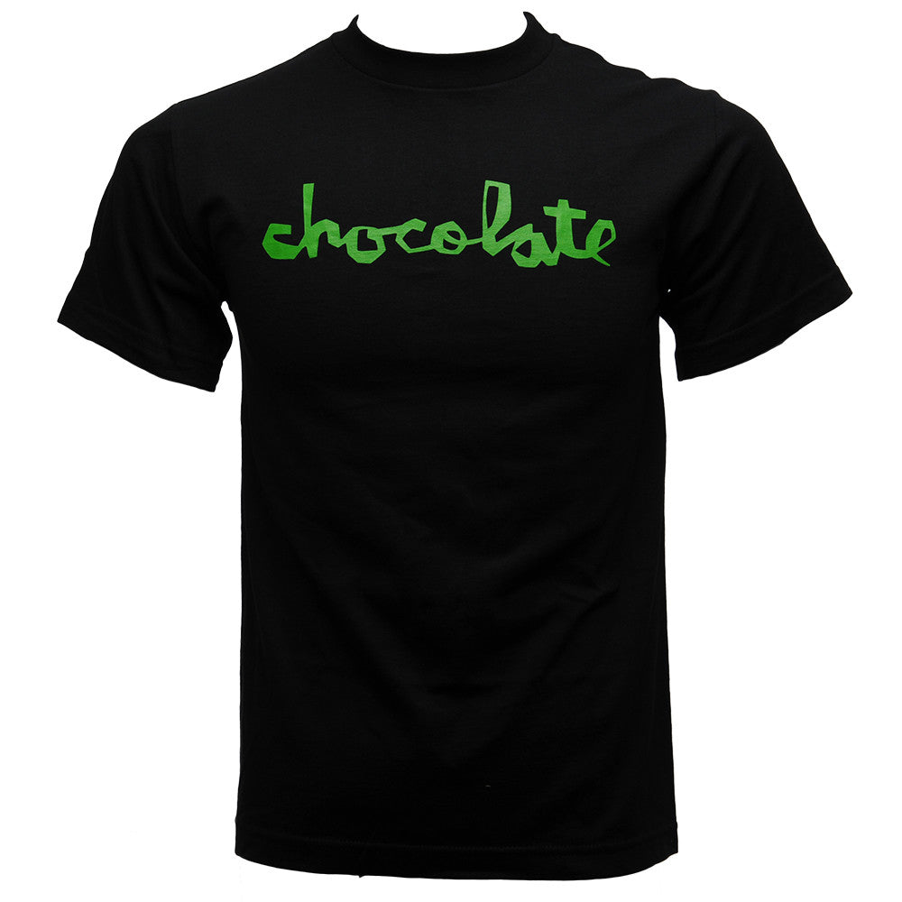 Chocolate Chunk Script - Men's T-Shirt - Black/Green