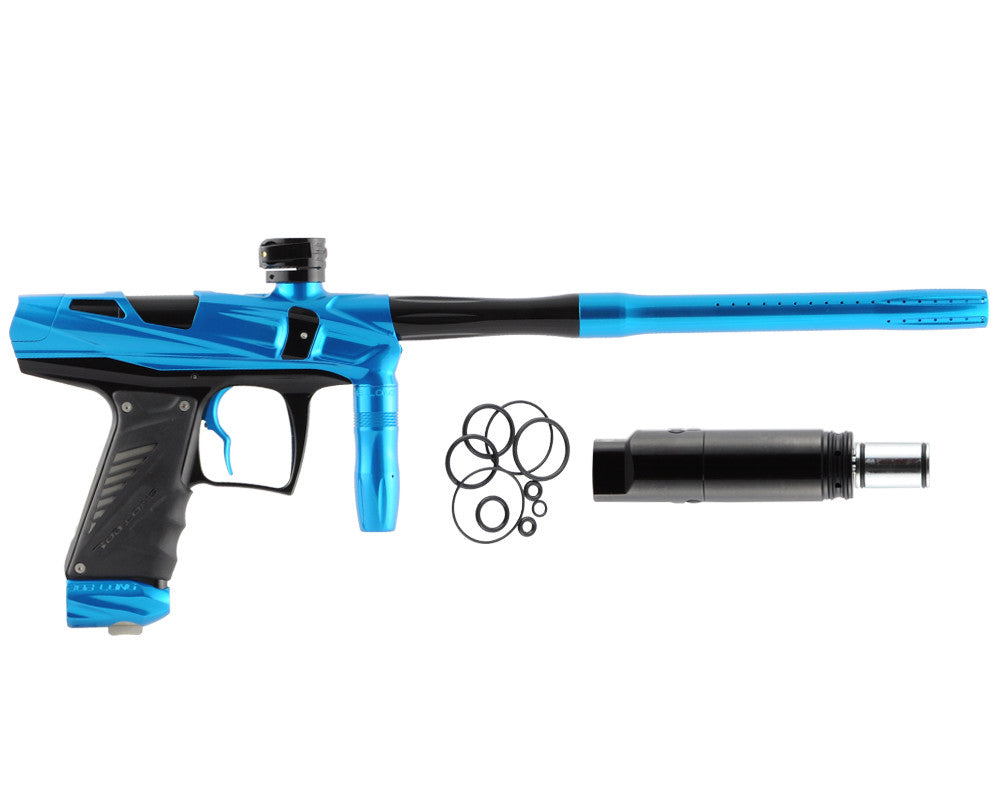 Bob Long Victory V-COM Paintball Gun - Teal/Black