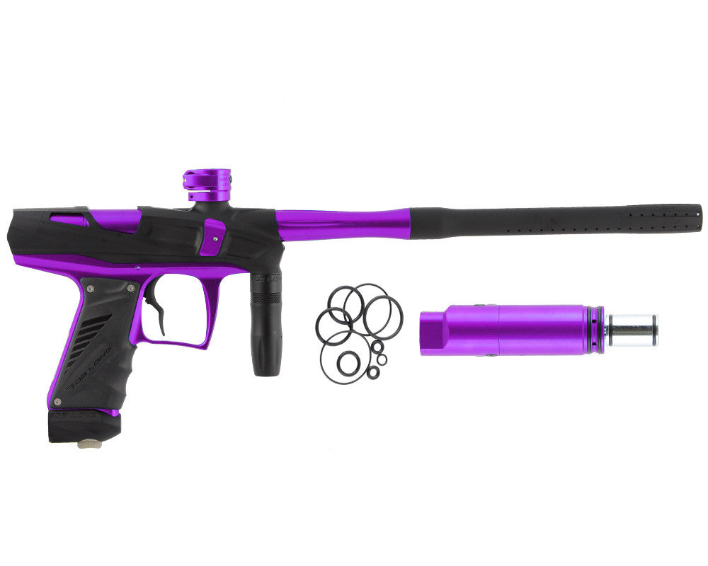Bob Long Victory V-COM Paintball Gun - Dust Black/Purple