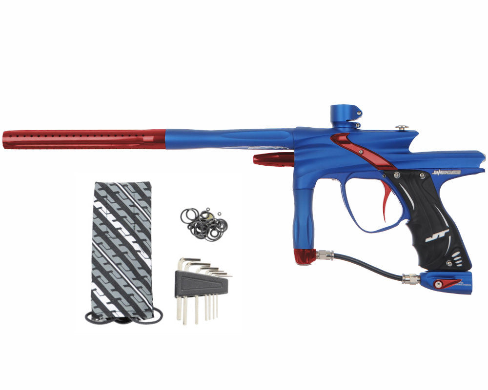 JT Impulse Paintball Gun - Dust Blue/Red