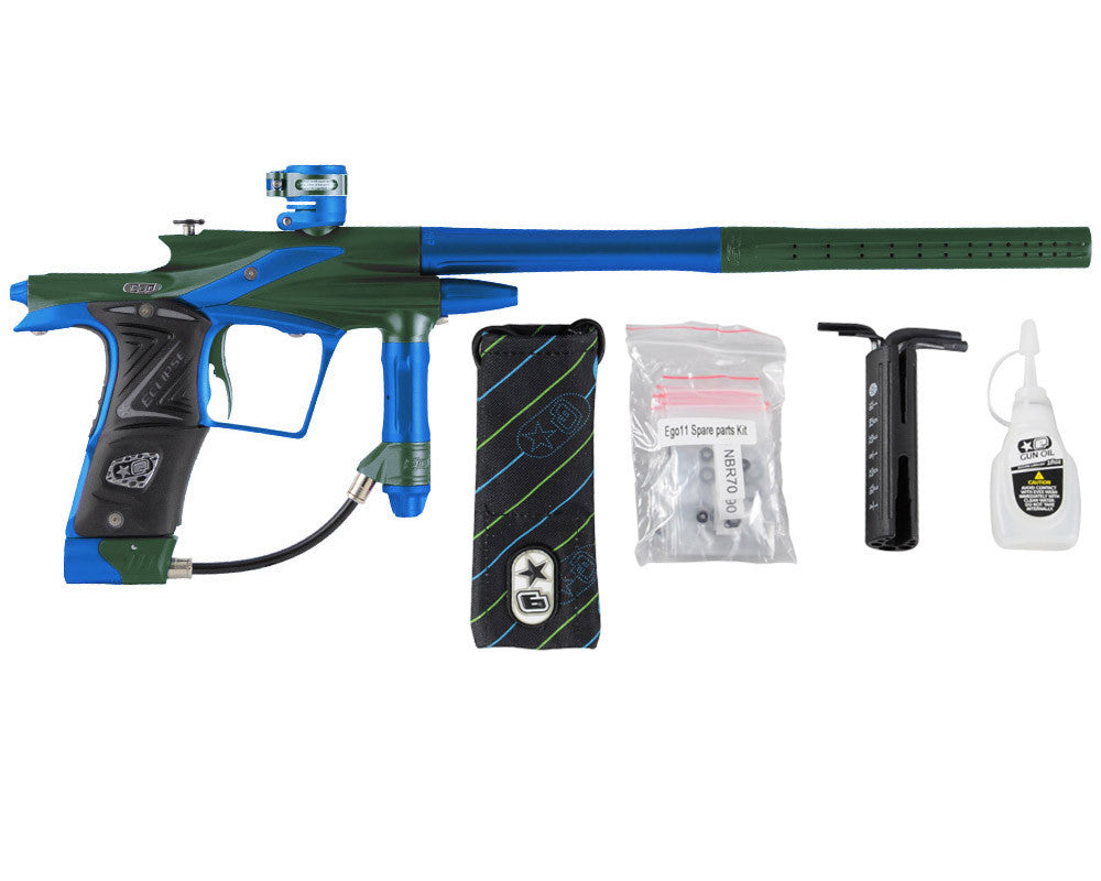 Planet Eclipse 2011 Ego Paintball Gun - Green/Cobalt