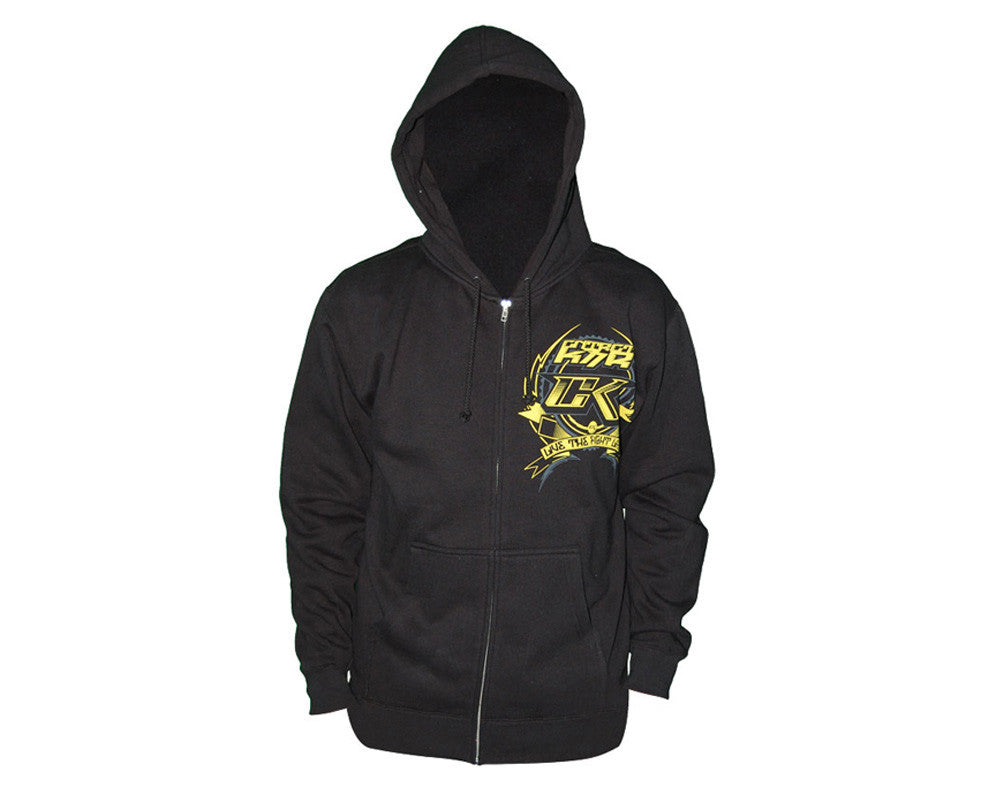 Contract Killer CK Factory Zip Up Hoody - Black/Yellow