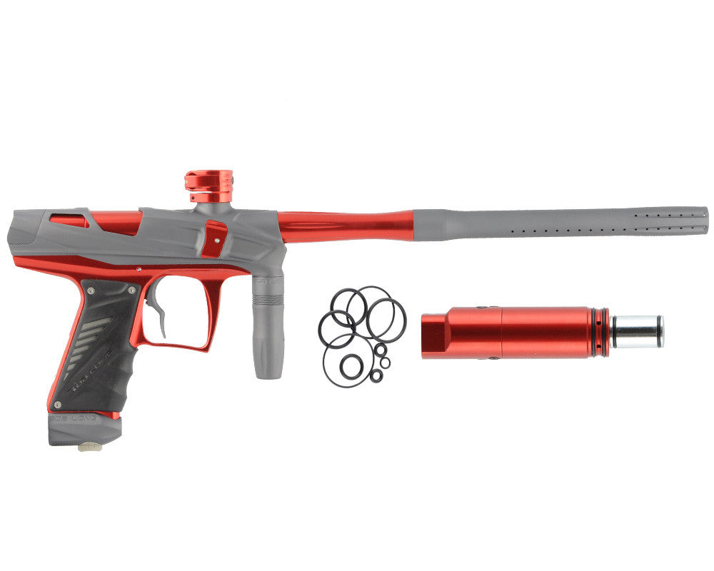 Bob Long Victory V-COM Paintball Gun - Dust Titanium/Red
