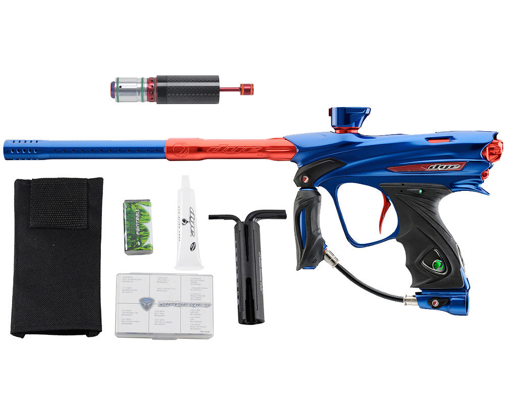 Dye DM13 Paintball Gun w/ CF Billy Wing Bolt - Blue/Red