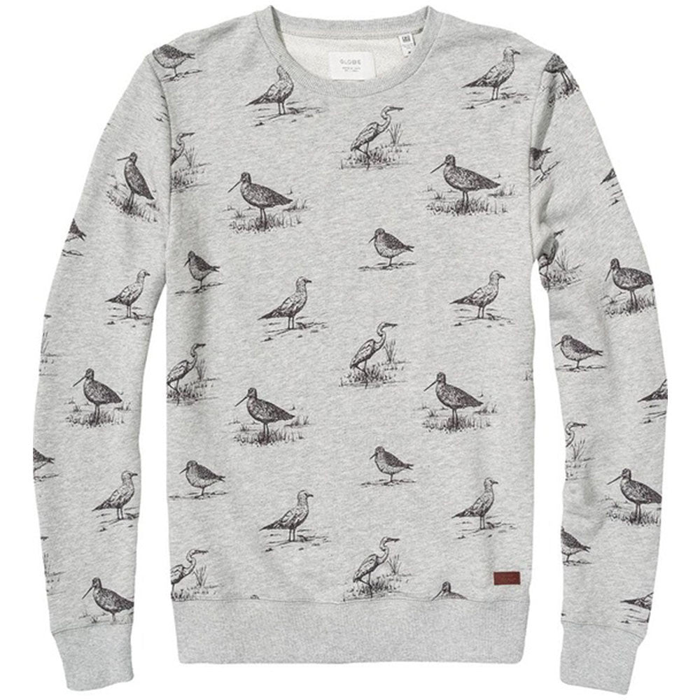 Globe Franklin Crew - Grey Marle - Men's Sweater