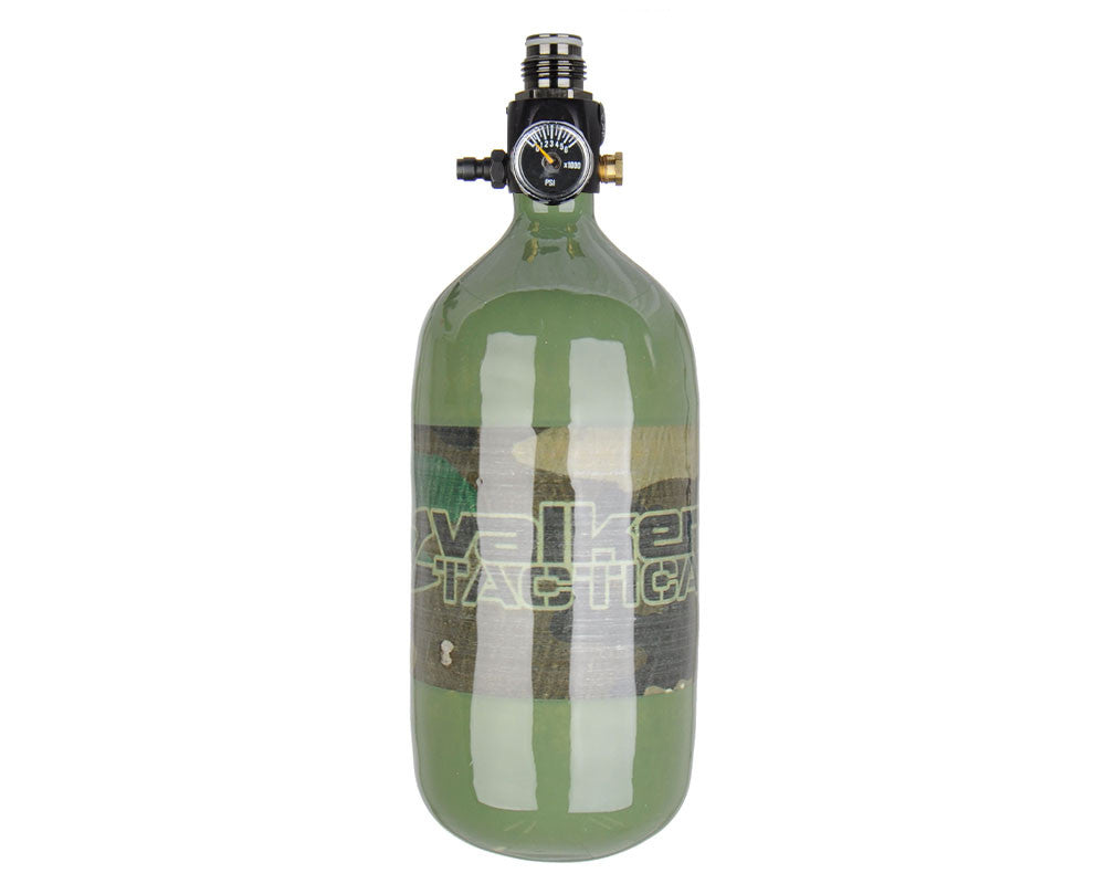 Valken 45/4500 Compressed Air Paintball Tank w/ Crossfire Stealth Regulator - Woodland