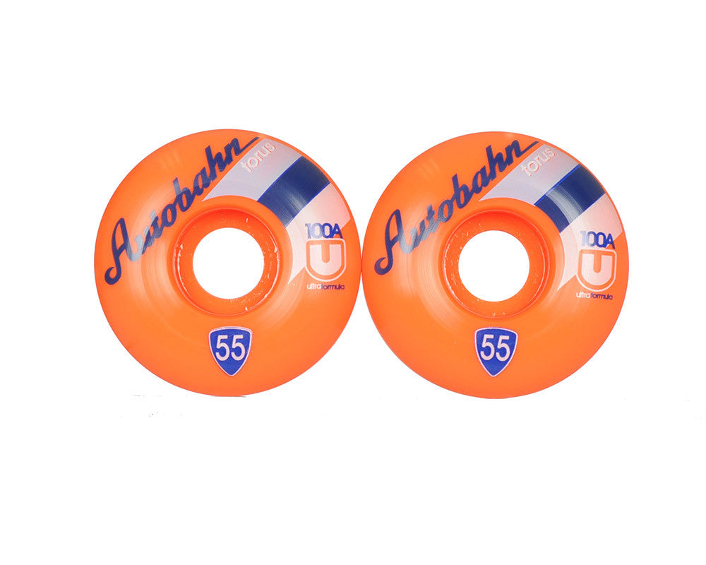 Autobahn Torus Ultra Limited Edition - 55mm 100a - Orange - Skateboard Wheels (Set of 4)