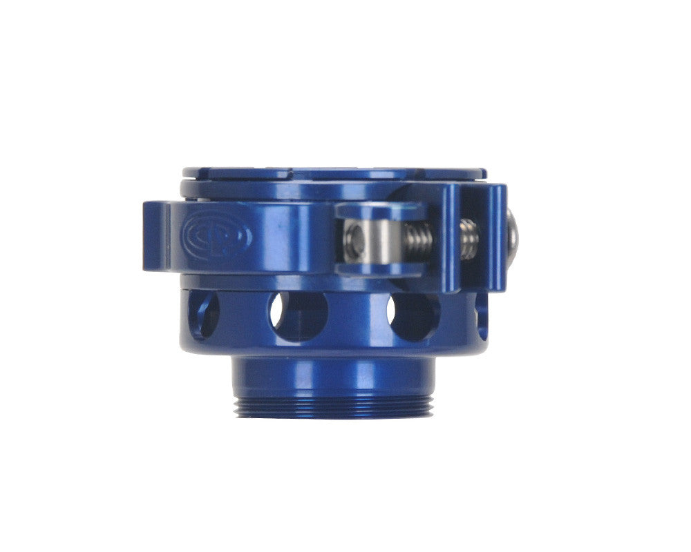 Custom Products CP Spyder VS1, VS2, VS3, RS, & RSX No-Rise Clamping Feed Neck - Blue