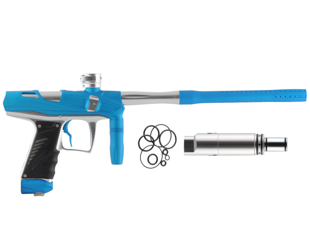 Bob Long Victory V-COM Paintball Gun - Dust Teal/Silver