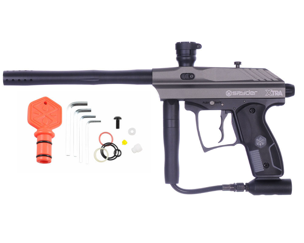 Refurbished 2012 Kingman Spyder Xtra Semi-Auto Paintball Gun - Silver Grey