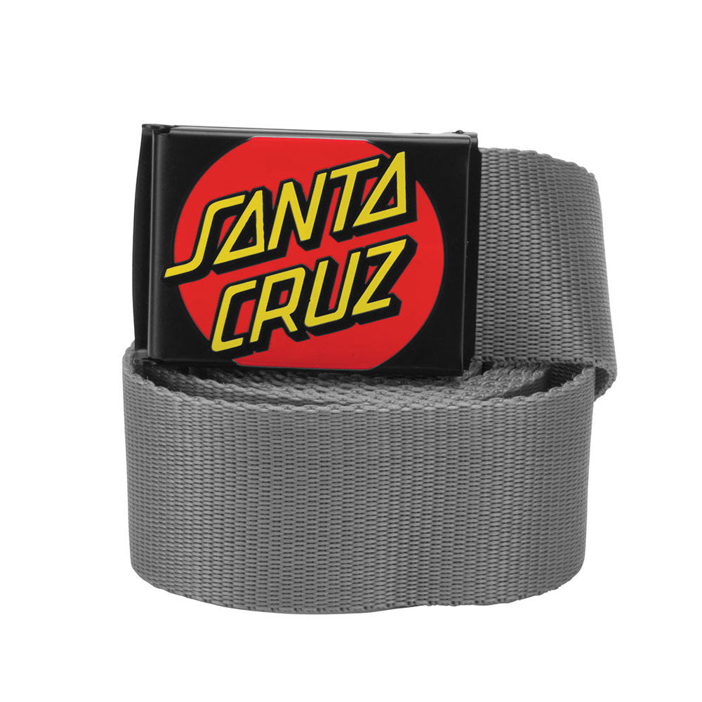 Santa Cruz Classic Dot Web Belt Charcoal OS Mens - Belt