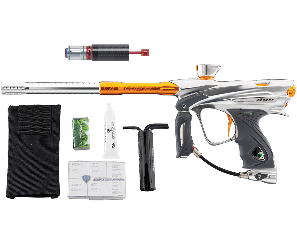 Dye DM13 Paintball Gun w/ CF Billy Wing Bolt - Clear/Orange