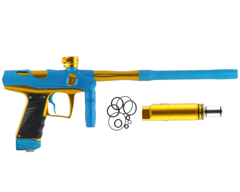 Bob Long Victory V-COM Paintball Gun - Dust Teal/Gold
