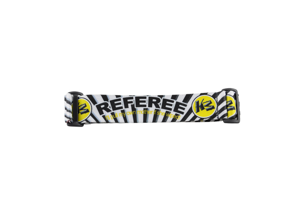 KM Paintball Goggle Strap - 09 Referee Gold