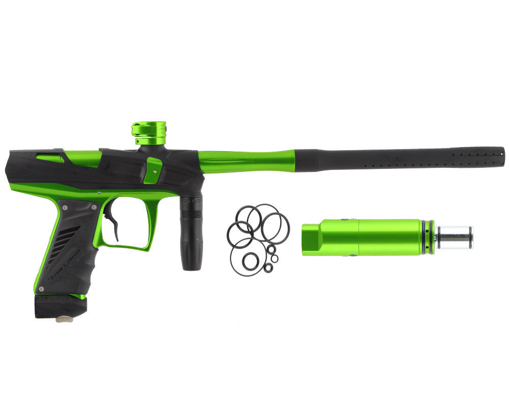 Bob Long Victory V-COM Paintball Gun - Dust Black/Lime