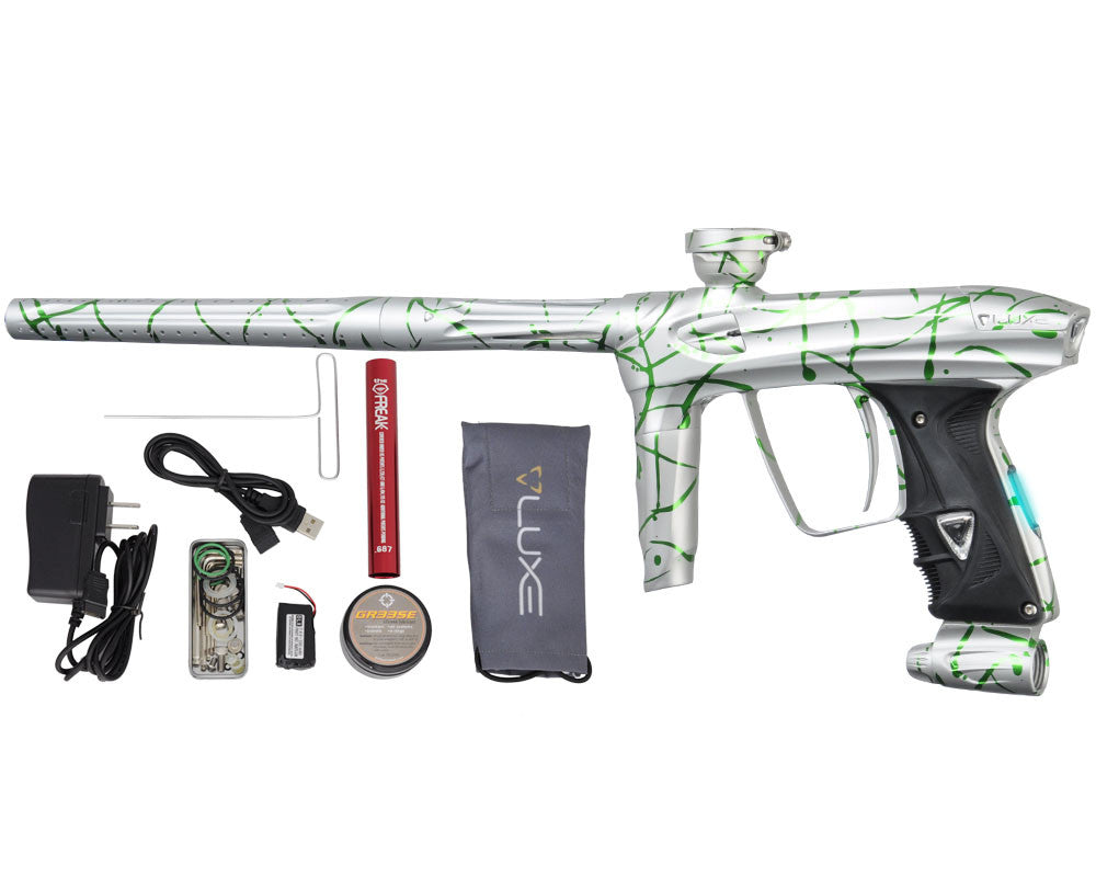 DLX Luxe 2.0 OLED Paintball Gun - 3D Splash Dust White/Slime