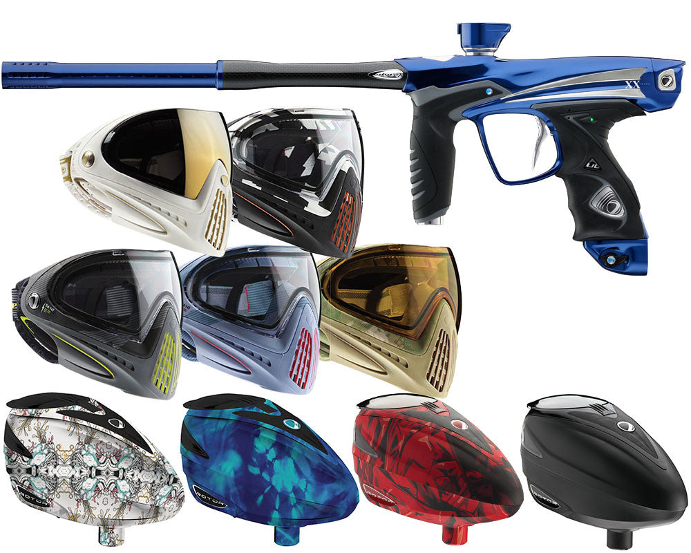 Dye DM14 XX Anniversary Edition Paintball Gun Combo Kit - Blue